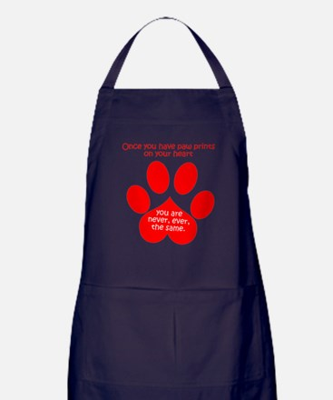 Paw Prints Apron (dark)
