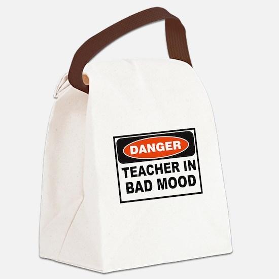 TEACHER IN BAD MOOD Canvas Lunch Bag