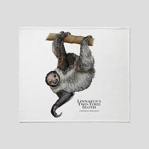 Linnaeus's Two-Toed Sloth Throw Blanket