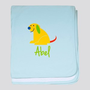 Abel Loves Puppies baby blanket