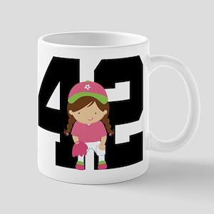 Softball Player Uniform Number 42 Mug