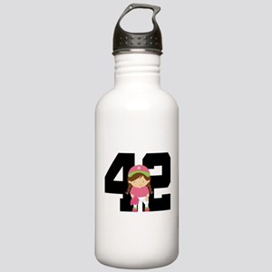 Softball Player Uniform Number 42 Stainless Water