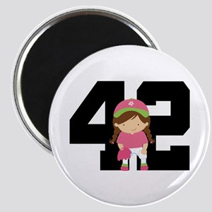 Softball Player Uniform Number 42 Magnet