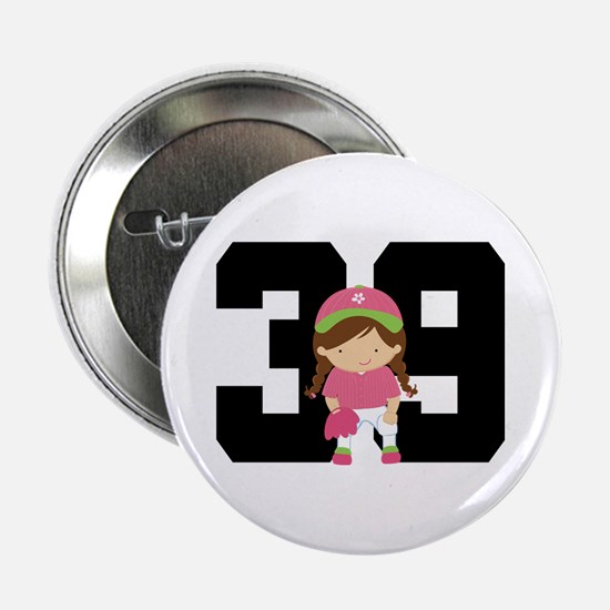 "Softball Player Uniform Number 39 2.25"" Button"