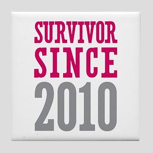 Survivor Since 2010 Tile Coaster