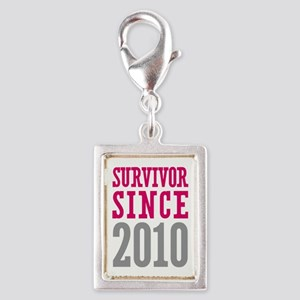 Survivor Since 2010 Silver Portrait Charm