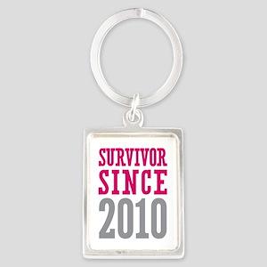 Survivor Since 2010 Portrait Keychain