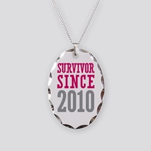 Survivor Since 2010 Necklace Oval Charm
