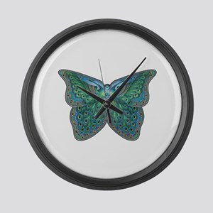 Peacock Butterfly Large Wall Clock