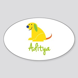 Aditya Loves Puppies Sticker