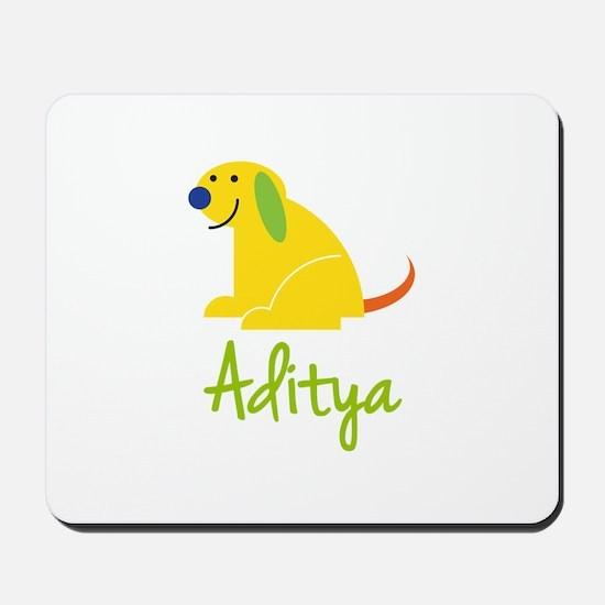 Aditya Loves Puppies Mousepad