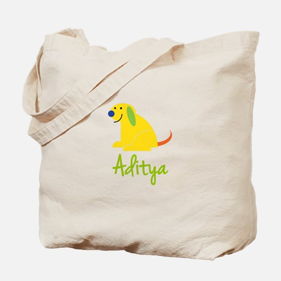 Aditya Loves Puppies Tote Bag