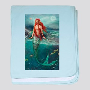 Mermaid of Coral Sea baby blanket
