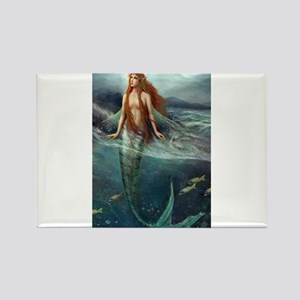 Mermaid of Coral Sea Rectangle Magnet