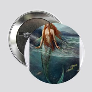 """Mermaid of Coral Sea 2.25"""" Button"""