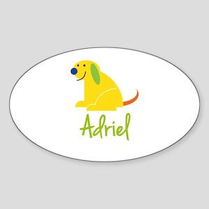 Adriel Loves Puppies Sticker
