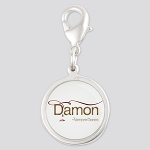 The Vampire Diaries DAMON gold metal Silver Round