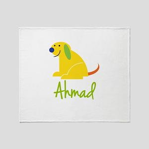 Ahmad Loves Puppies Throw Blanket