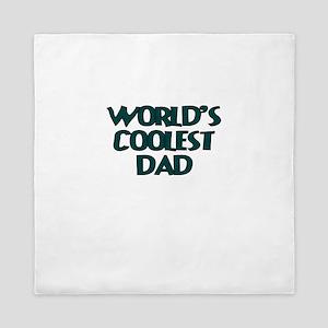 WORLDs Coolest Dad Queen Duvet