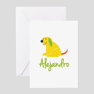Alejandro Loves Puppies Greeting Card
