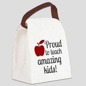 Proud Teacher Canvas Lunch Bag