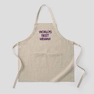 WORLDS BEST MEMAW PURPLE Apron