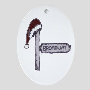 Santa Hat Broadway Signpost Ornament