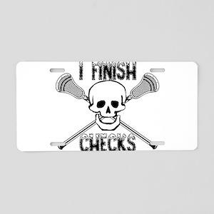 Lacrosse I Finish Checks Aluminum License Plate