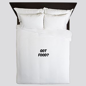 GOT FOOD? Queen Duvet