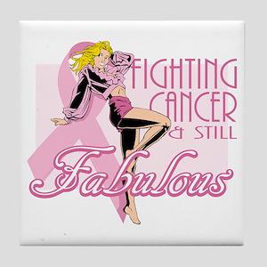Fabulously Fighting Cancer Tile Coaster