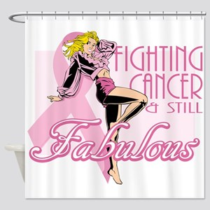 Fabulously Fighting Cancer Shower Curtain