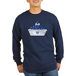 Blueberry Delight Long Sleeve Dark T-Shirt