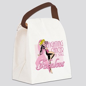 Fabulously Fighting Cancer Canvas Lunch Bag
