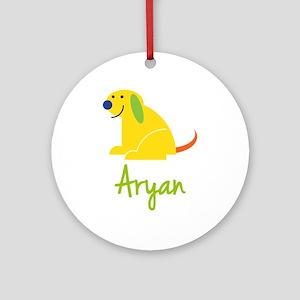 Aryan Loves Puppies Ornament (Round)
