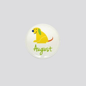August Loves Puppies Mini Button