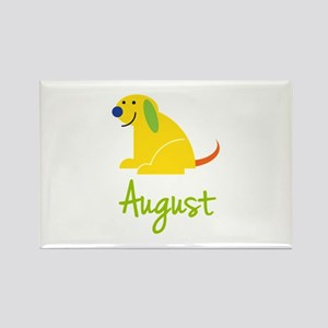 August Loves Puppies Rectangle Magnet