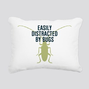 Distracted By Bugs Rectangular Canvas Pillow