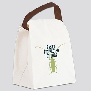 Distracted By Bugs Canvas Lunch Bag