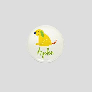 Ayden Loves Puppies Mini Button