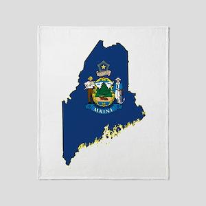 Maine Flag Throw Blanket