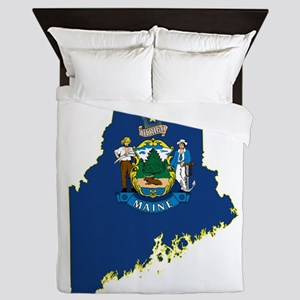 Maine Flag Queen Duvet