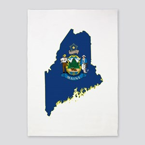 Maine Flag 5'x7'Area Rug