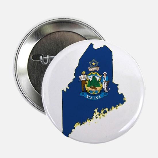 "Maine Flag 2.25"" Button"
