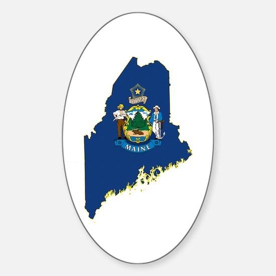 Maine Flag Sticker (Oval)