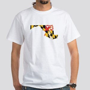 Maryland Flag White T-Shirt