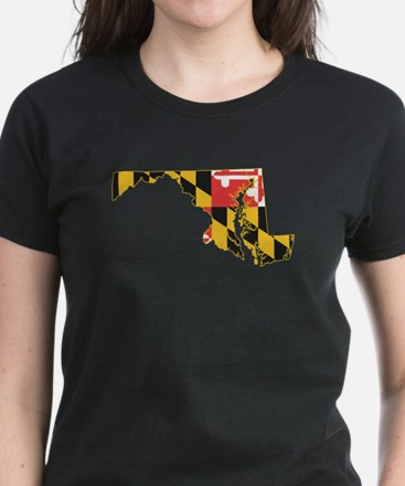 Maryland Flag Women's Dark T-Shirt