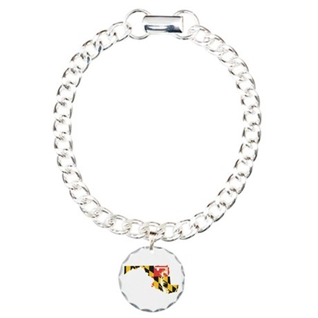 Maryland Flag Charm Bracelet, One Charm