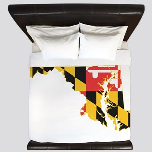 Maryland Flag King Duvet