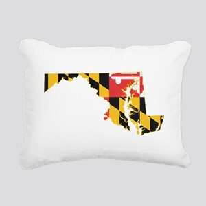 Maryland Flag Rectangular Canvas Pillow