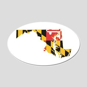 Maryland Flag 20x12 Oval Wall Decal